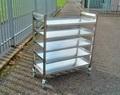 5 removable shelf trolley