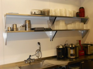 Stainless steel shelving for extra storage